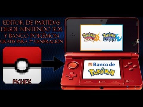 Editor De Partidas Y Banco De Pokemon Gratis Para Pokemon Sol Y Luna
