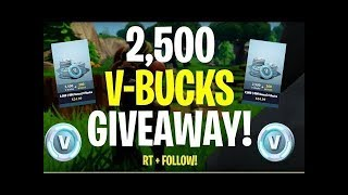 LIVESTREAM - GIVEAWAY DE 2X 2.800 V-BUCKS - FORTNITE | C/ ZVP TIAGO | #1K