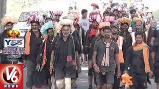 Ayyappa Swamula Maha Padayatra Continues For 35th Day | Secunderabad To Sabarimala | V6 News