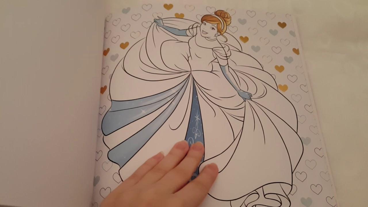 Disney Princesse Carrément Colos Coloriages Dorés à Compléter