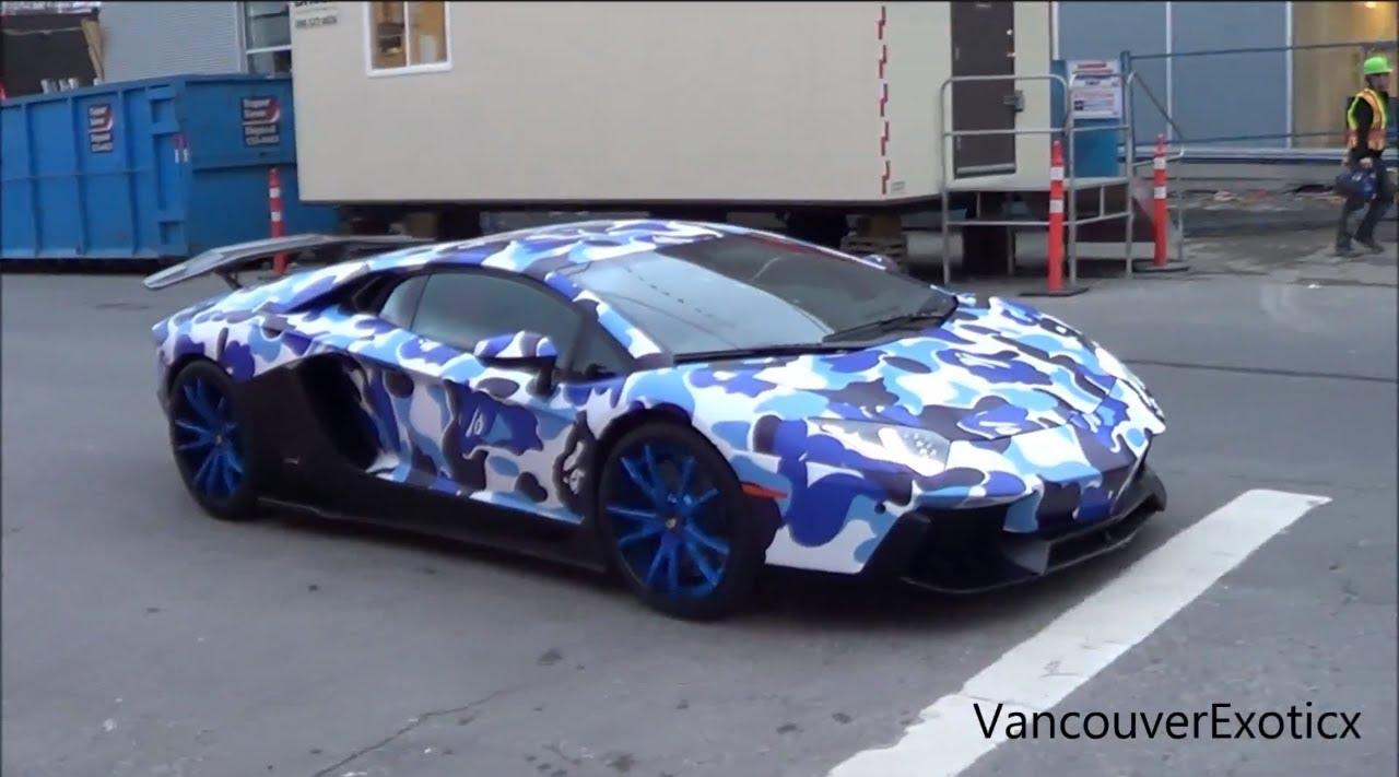 Bape Camo Lb Lamborghini Aventador W Ipe Startups Revs