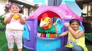 3 Colors of Glue Slime Challenge #part2 , Fun kids video