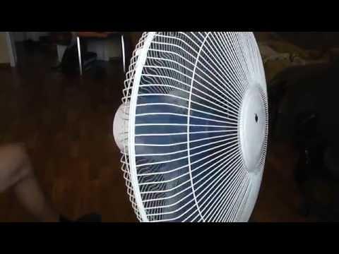 Ремонт корпуса вентилятора с помощью пластикового ведра