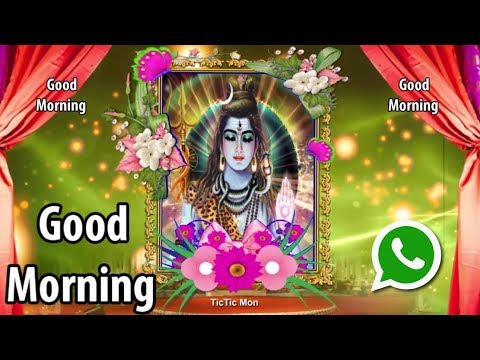 Shiv God Good Morning Whatsapp Status Video Hindu God Video Tictic Mon Youtube