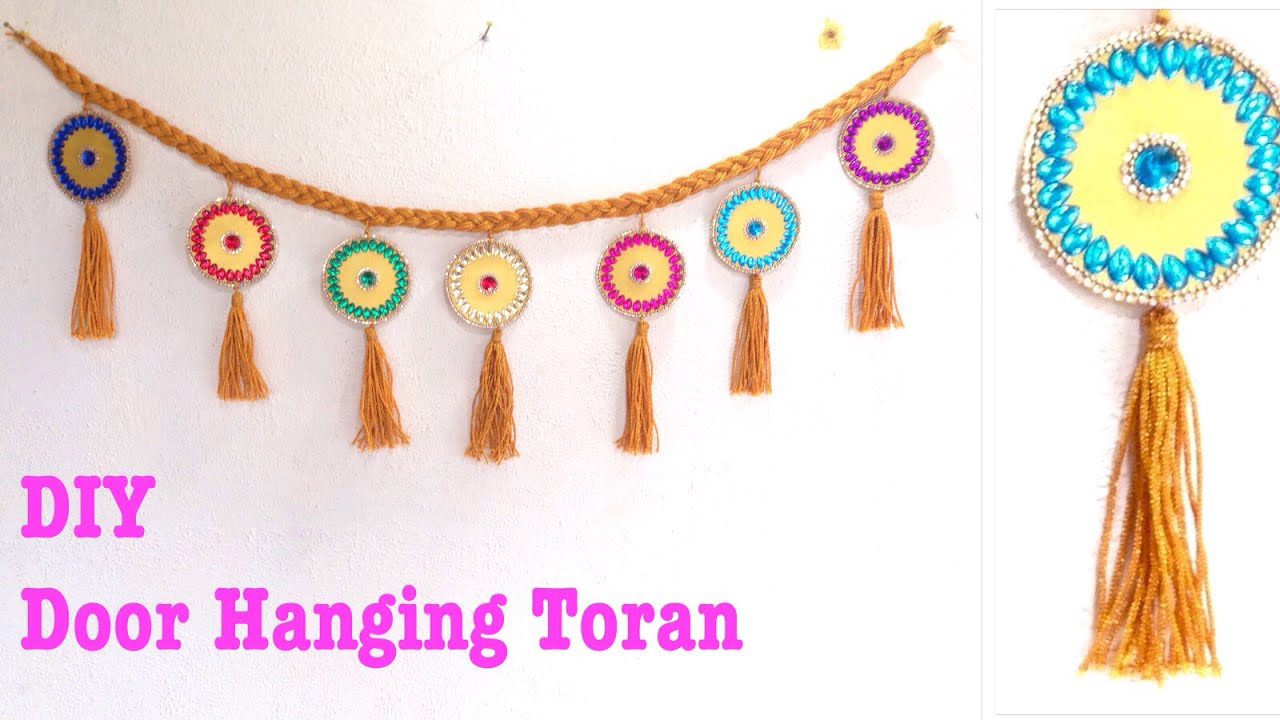 how to make door hanging toran at home door decoration home decoration  sc 1 st  Easy Ways To Hang Christmas Lights On Houses. Apartment Bathroom ... & Door Hanging Designs Diwali. Elegant Diwali Door Hanging. Colorful ...