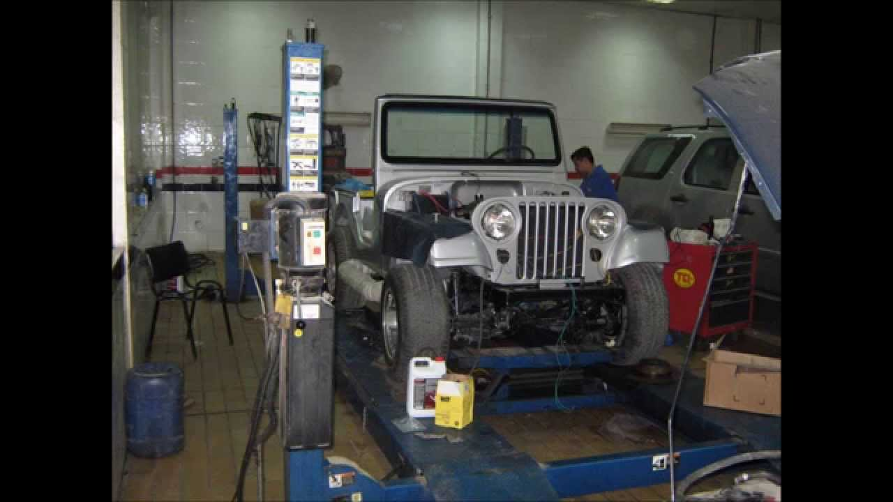 hight resolution of frame of restoration 1973 jeep cj5 with strong 454 big block