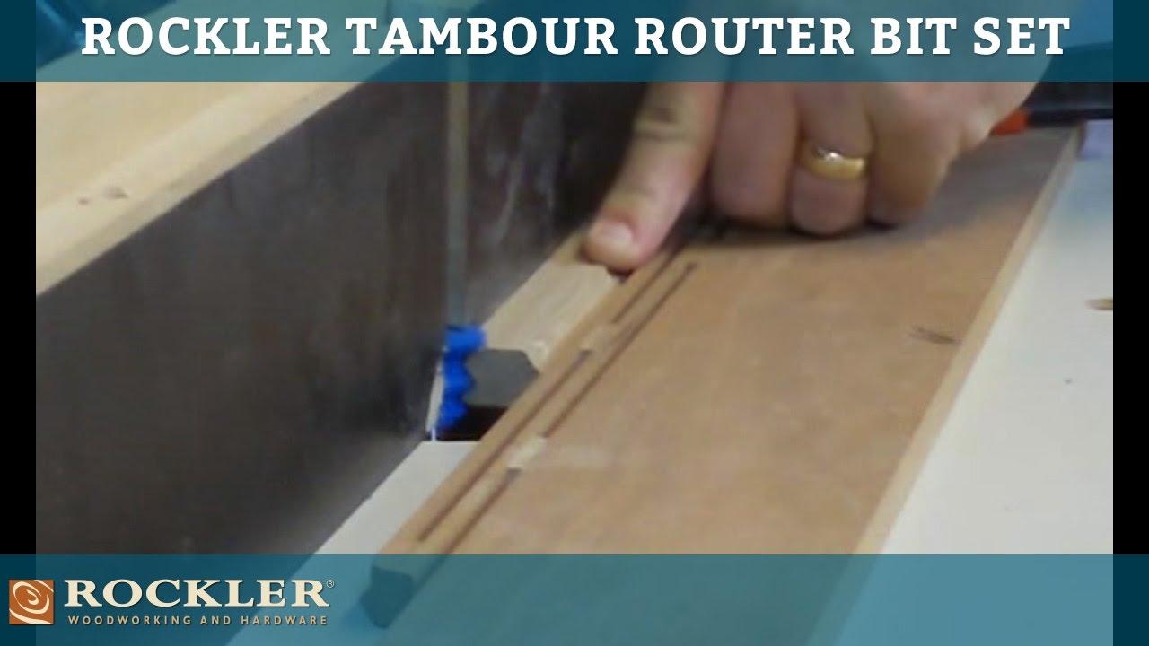 Rockler Tambour Router Bit Set