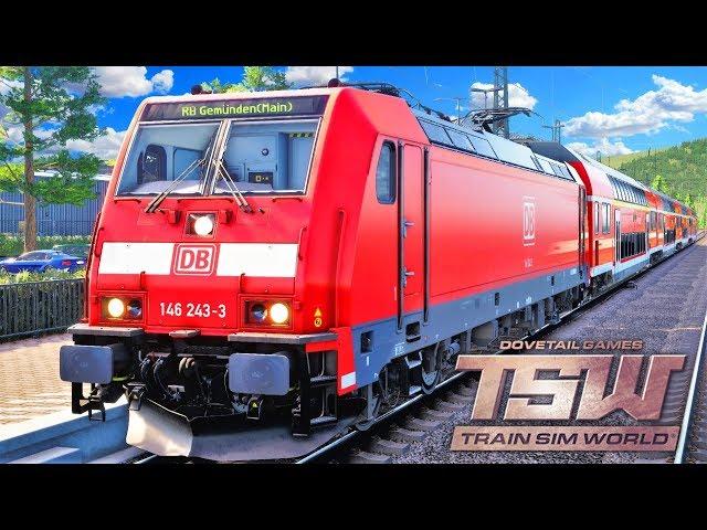 Train Sim World Main Spessart Bahn | Regionalbahn + BR 146 | Gemünden am Main - Lohr | TSW
