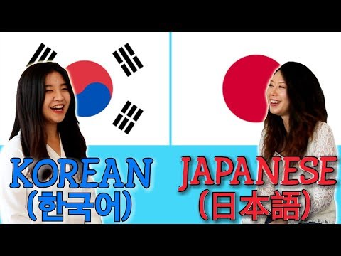 Similarities Between Korean and Japanese
