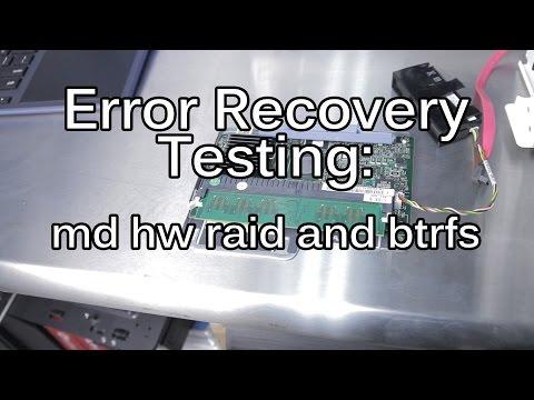 RAID Obsolete? Part 2:  Failure Testing Linux's RAID: md, h/w & BTRFS