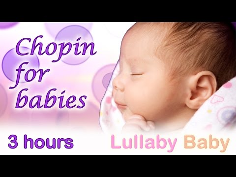 ☆ 3 HOURS ☆ Chopin Nocturne Op. 9 No. 2 ☆ Relaxing PIANO ☆ Chopin for babies, Baby Sleeping Music