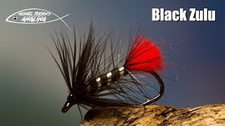 Black Zulu - classic wet fly tying