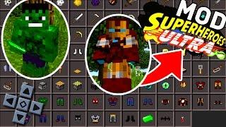 SAIU! NOVO MOD SUPER HEROES ULTRA V1 PARA MINECRAFT PE ! - (Minecraft Pocket Edition)