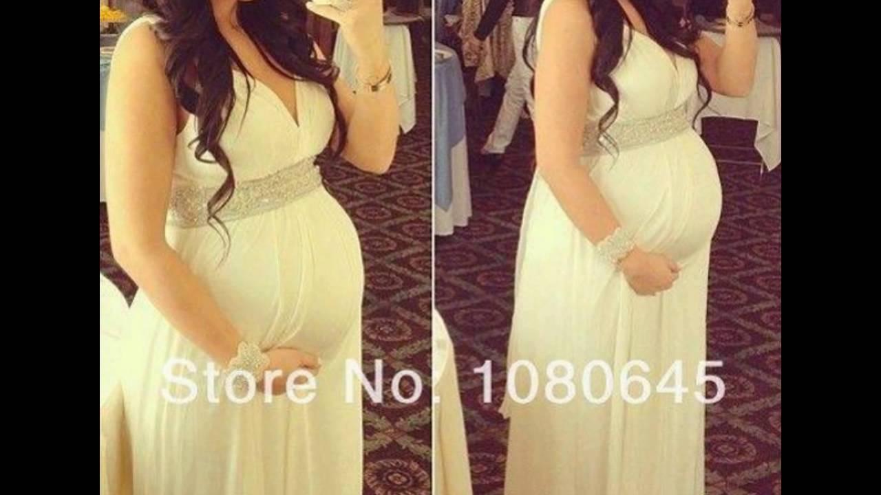 0f7b4ded8 Diseños de vestidos para mujeres embarazadas - YouTube