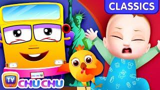ChuChu TV Classics - Wheels on the Bus Song - New York City | Nursery Rhymes and Kids Songs