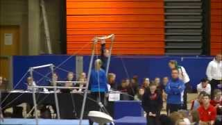 Siofra at the All-Ireland Level 5 AA Gymnastics Final