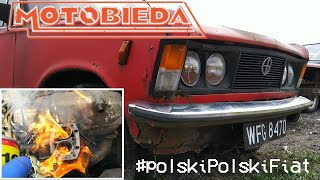 Dym, płomienie i kryminalne zagadki 125p za 400zł - polski Polski Fiat 2 - MotoBieda
