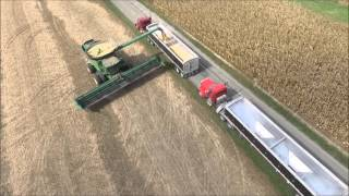 MYERS FARMS BROWNSVILLE, INDIANA CUTTING BEANS AND WORKING GROUND OCT 2015