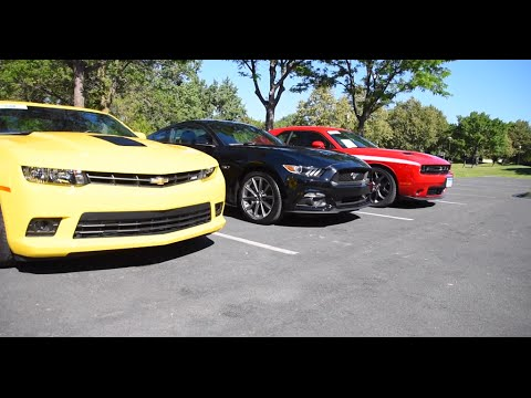 American Muscle Car Shoot Out Mustang Gt Camaro Ss