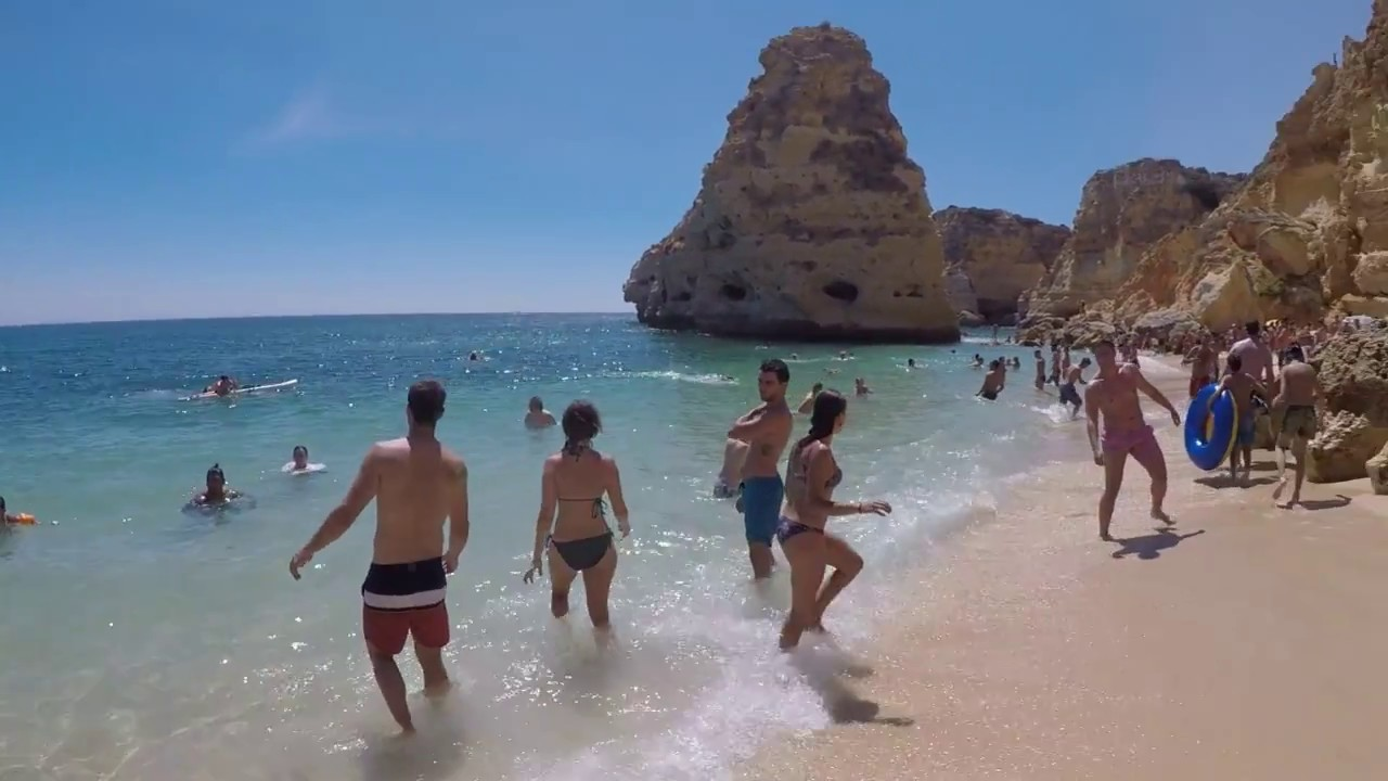 From Praia Da Marinha To Hidden Beach Albufeira Portugal 2017