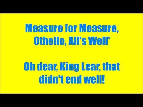 Horrible Histories - Shakespeare/ A List of Plays + lyrics HD