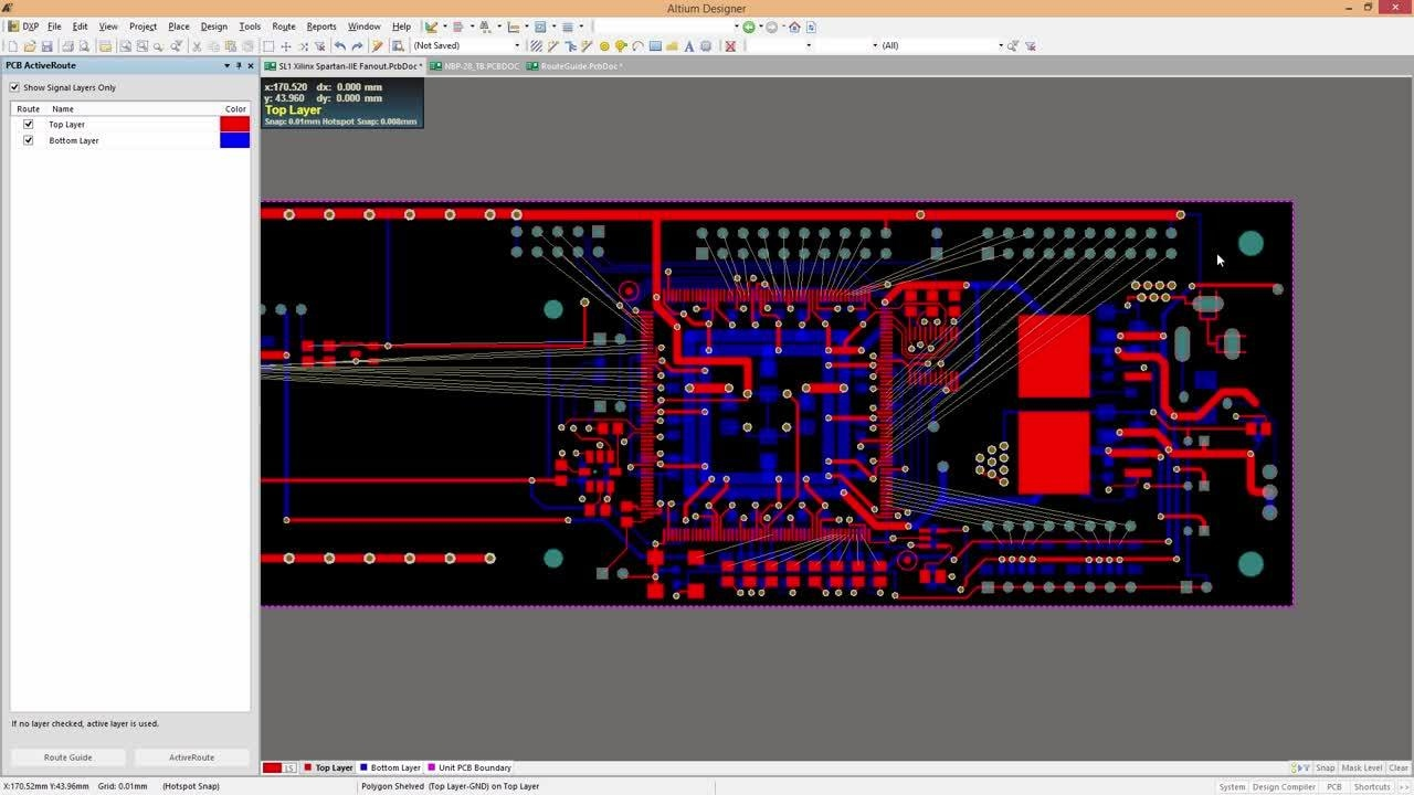 Altium pcb autorouter fixes flaws from automatic routing tools.