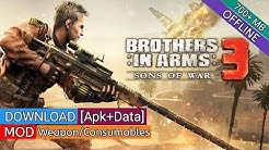 Download Brothers in Arms 3 v1.4.9a Apk+Data [MOD Free Weapons/Consumables] For Android
