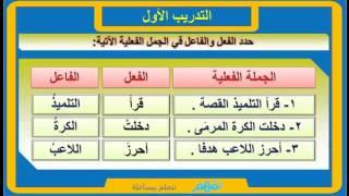 الجملة الفعلية لغة عربية الصف الرابع الإبتدائي نفهم Youtube