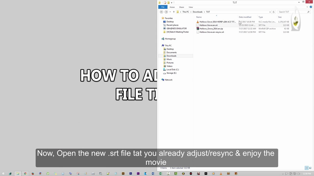 HOW TO EDIT/ADJUST/RESYNC  SRT(SUBTITLE) TIMING TO MATCH WITH THE MOVIE  (EASY & FREE)