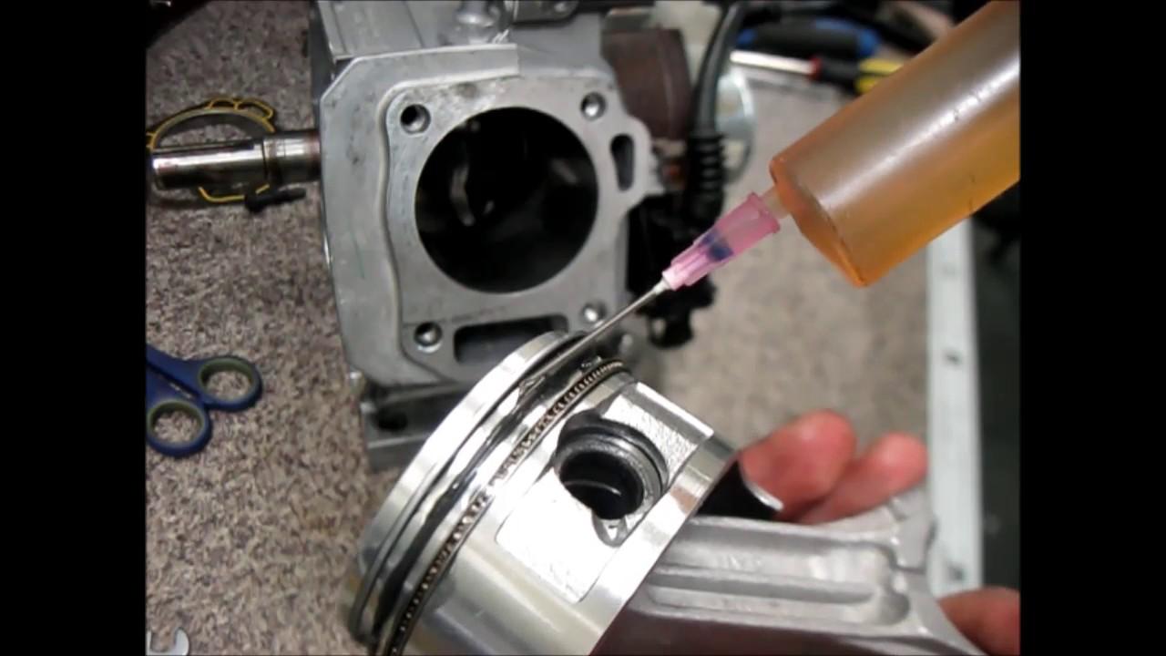 Двигатель Honda GX160 сборка новой поршневой группы/The Honda GX160 engine Assembly new piston group