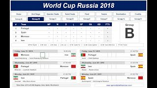 Fixture World Cup Russia 2018 MS Excel (English version)