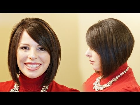 How to Cut a Stacked A-line // Aline Haircut Tutorial