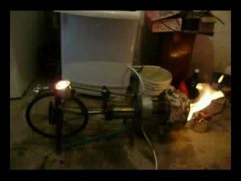 Stirling engine generator from scrap iron