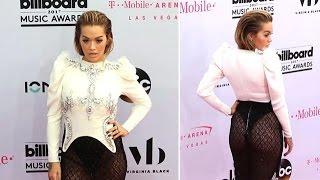 Rita Ora Gives A Mini Peep Show While Wearing A Sexy Sheer Skirt