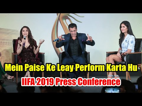 Salman Khan Funniest Chit Chat With Katrina And Madhuri | IIFA 2019 Press Conference #IIFA2019