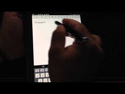 Samsung Galaxy Tab S 8.4 & 10.5 Tip: Using a Stylus to enter text for note taking