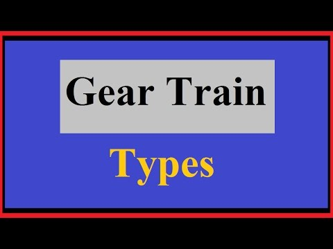 Types of Gear Trains Basic, Formula and Numerical Approach for GATE
