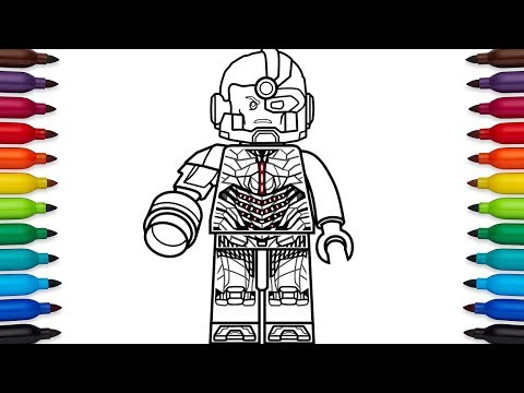 How to draw Lego Cyborg (Victor Stone) from DC Comic