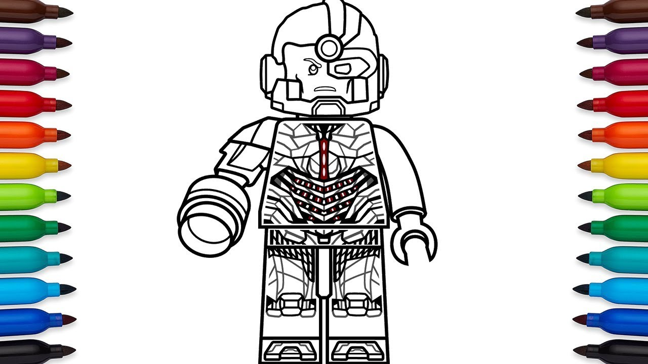How to draw Lego Cyborg (Victor Stone) from DC Comic's ...