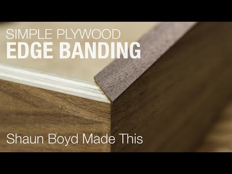 How to Make Simple Plywood Edge Banding - YouTube