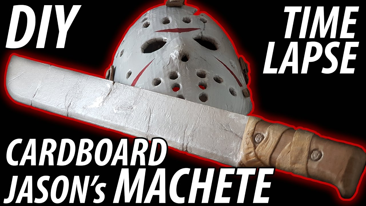 40b11ef42a2e DIY Jason's Machete from Friday the 13th made from Cardboard