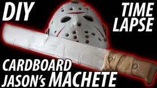 DIY Jason's Machete from Friday the 13th made from Cardboard