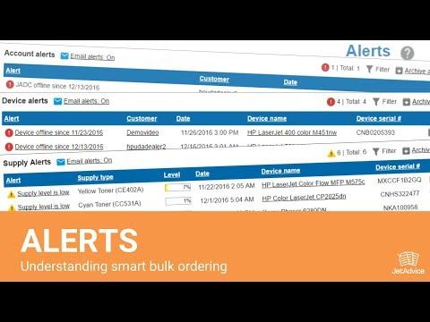 Alerts - Understanding smart bulk ordering