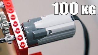 Lego Motor Lifts 100kg