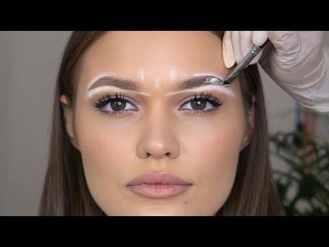 Видеоурок как покрасить брови
