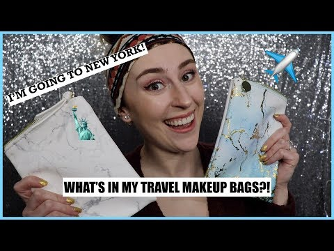 What's in my Travel Makeup Bags | Going to NY! | Mini Soft Glam Eye Tutorial