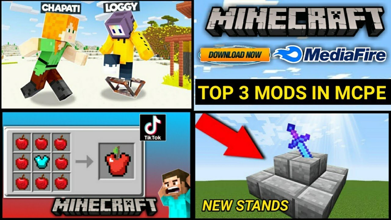 Download How To Download New Top 3 Mods Mod In Minecraft Pe ! MEDIAFIRE【UNIVERSE GAMER】