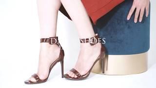 DailyShoes Stiletto Heels Ankle Buckle Strap Platform High Heel Dress Casual Sandal ShoesJennifer 55
