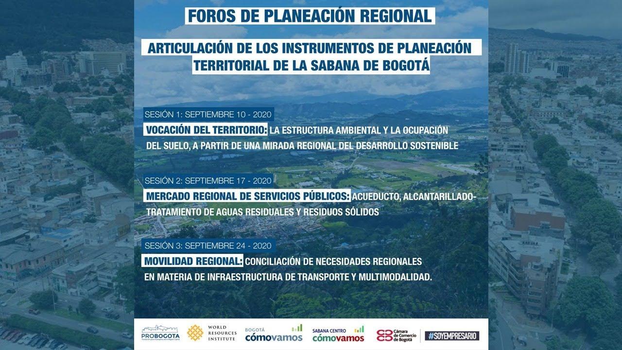 #ForosBogotáRegión Foros de Planeación Regional