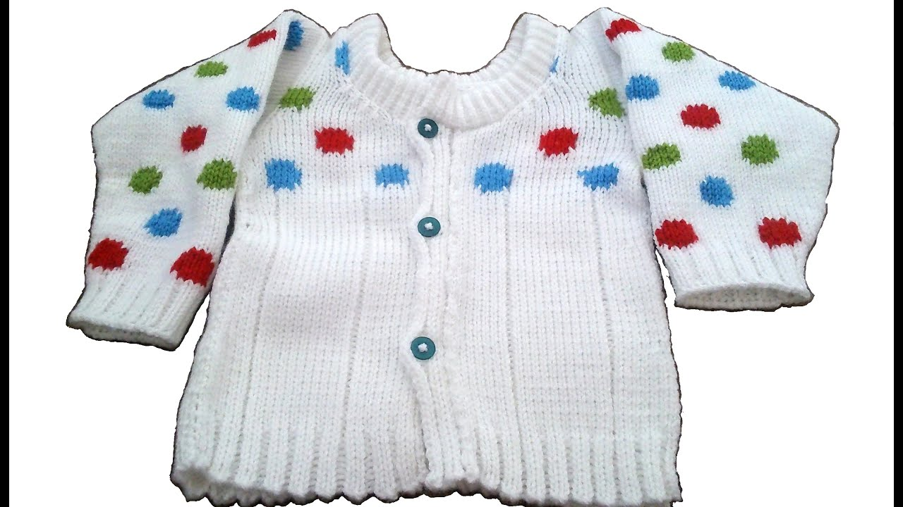 Baby Sweater Polka Dots Knitting Pattern Youtube